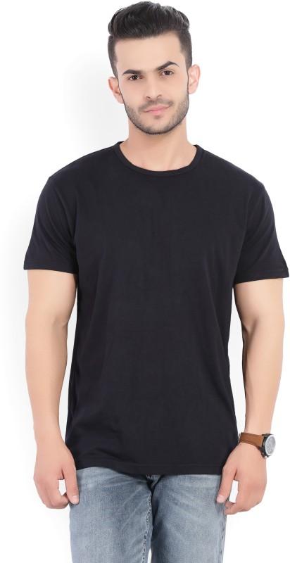 Gant Solid Mens Round Neck Black T-Shirt
