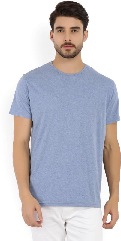 Gant Solid Mens Round Neck Blue T-Shirt