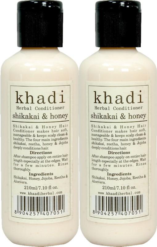 Khadi Herbals Shikakai & Honey Conditioner ( Pack of 2 )(420 ml)