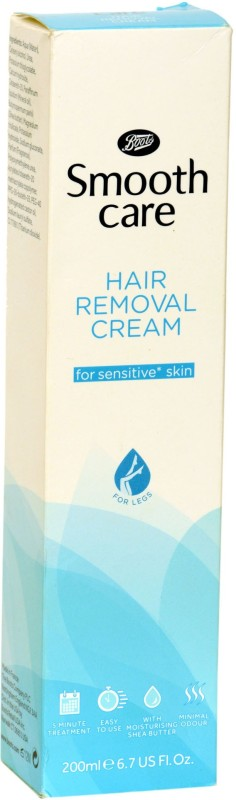 boots Smooth Care Hair Removal Cream for Sensitive Skin 200ml made in france Cream(200 ml)