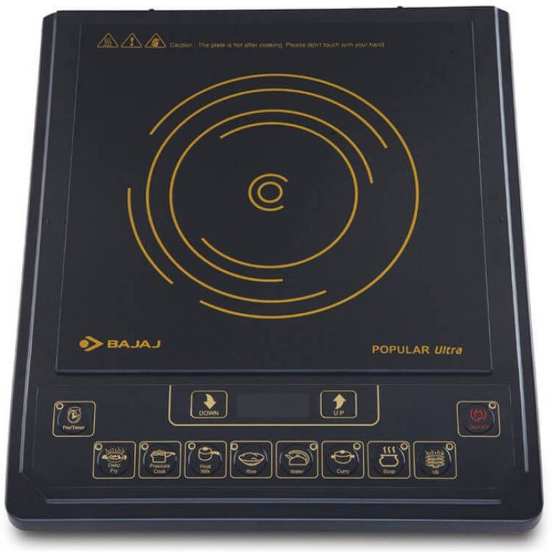 Bajaj Popular Ultra Induction Cooktop(Black, Touch Panel)