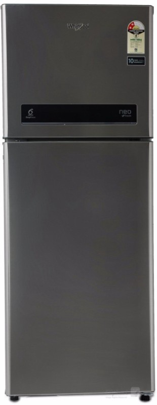 Whirlpool 245 L Frost Free Double Door 2 Star Refrigerator(Cool Illusia Steel, NEO DF258 ROY)