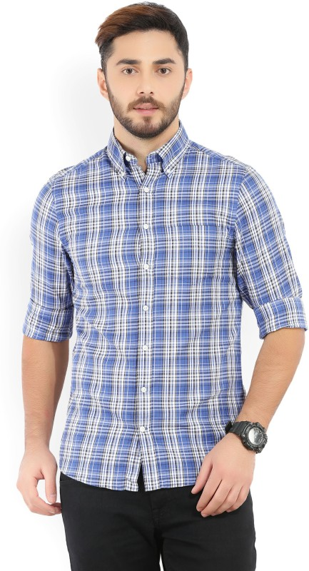 Gant Mens Checkered Casual Blue Shirt