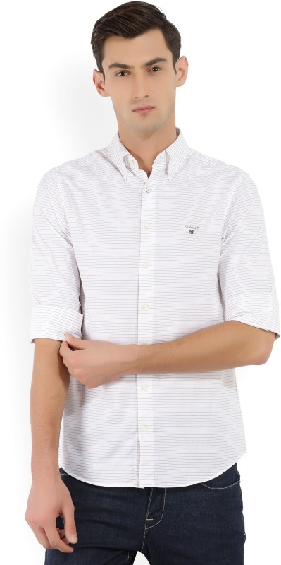 Gant Mens Striped Casual Red, White, Blue Shirt