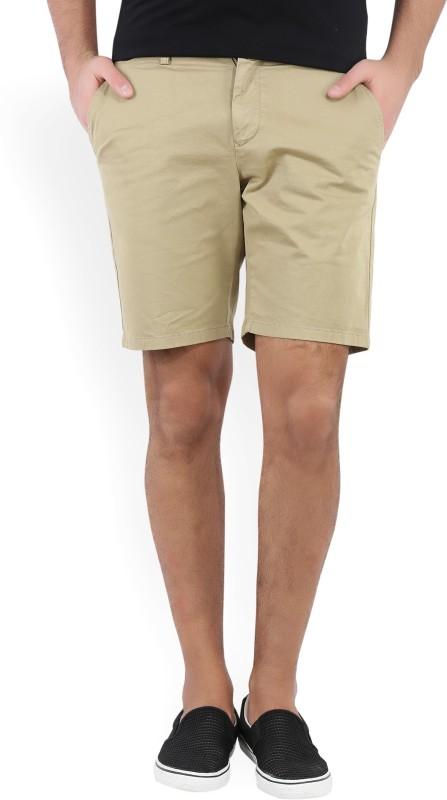 Gant Solid Mens Beige Chino Shorts