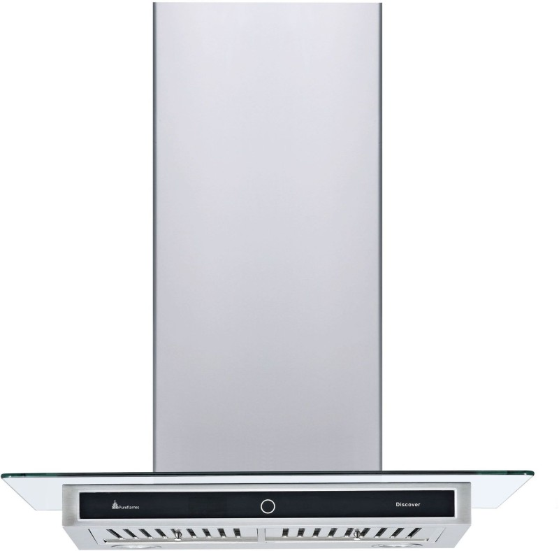 pureflames Discover 60 Wall Mounted Chimney(silver 1200)