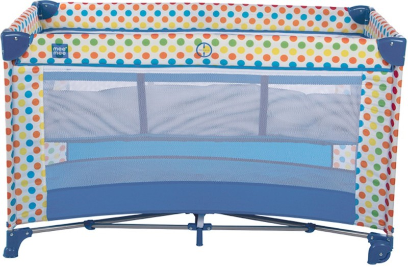 MeeMee Compact 2 in 1 Play Pen & Crib (Blue) Cot(Blue)