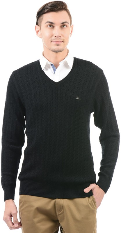 Monte Carlo V-neck Woven Men Pullover