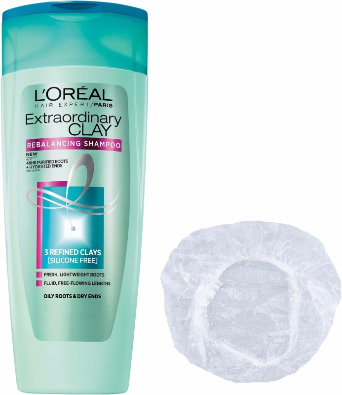 LOreal Extraordinary Clay Purifying & Hydrating Shampoo + Shower cap(175 ml)