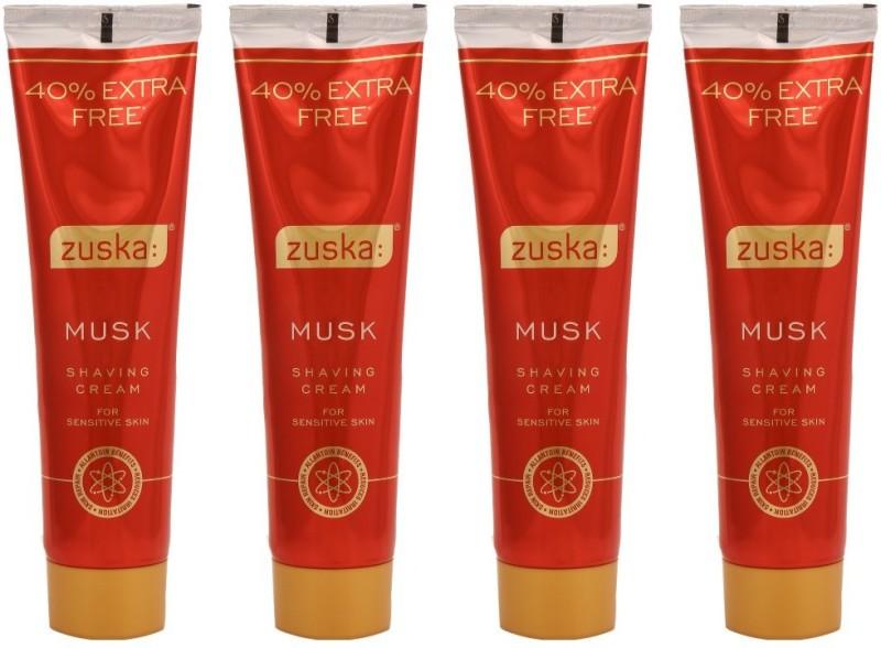 Zuska Musk Shaving Cream Pack of 4(98 g)