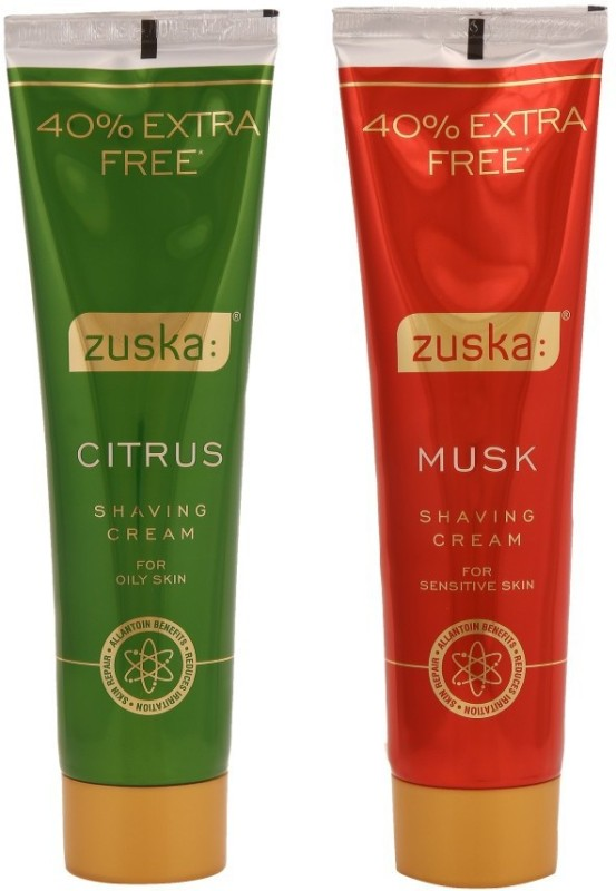 Zuska Citrus & Musk Shaving Cream Pack of 2(98 g)