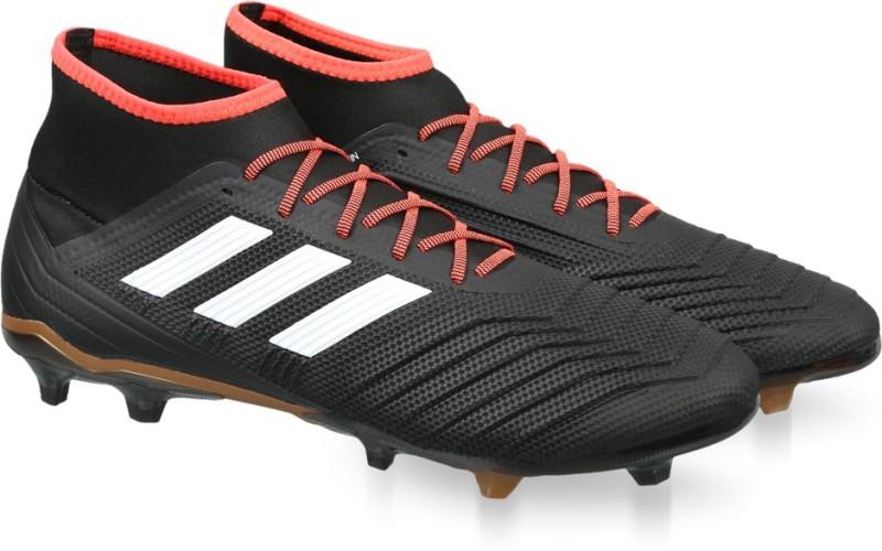 ADIDAS PREDATOR 18.2 FG Football Shoes For Men(Black)
