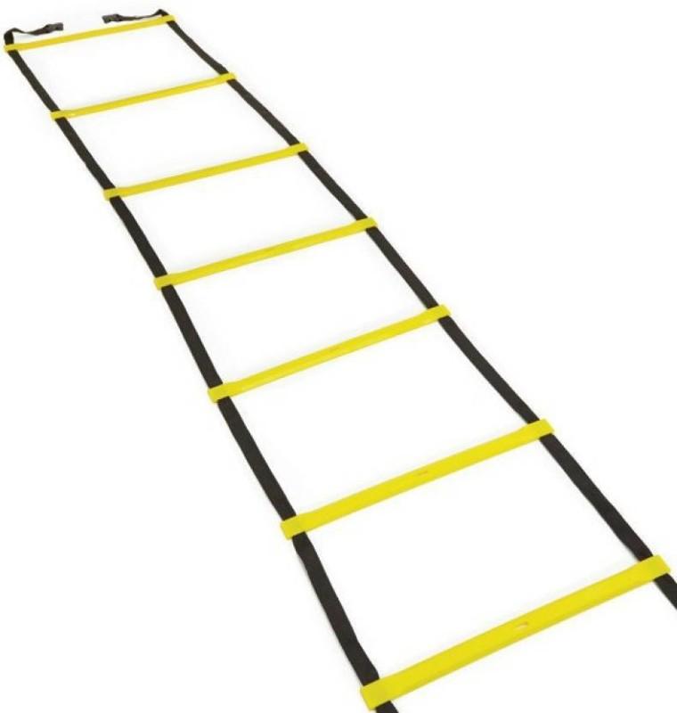 Monika Sports moni 4 Meter Long with 9 rungs agility Speed Ladder(Yellow)