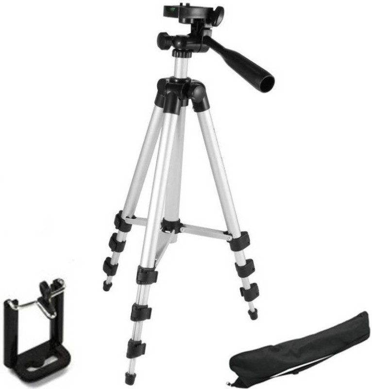 Doodads 105 Cm Long Stand - Super Light Tripod Kit Tripod Kit(Silver,...