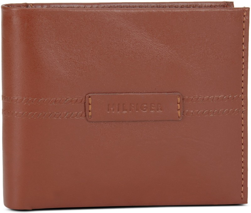 Tommy Hilfiger Men Tan Genuine Leather Wallet(4 Card Slots)