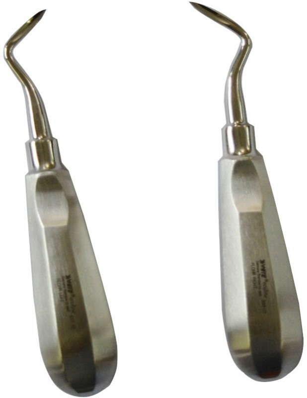 ss white Dental Root elevator Flohr Left S35-05 And Right S35-07 Dental Elevator