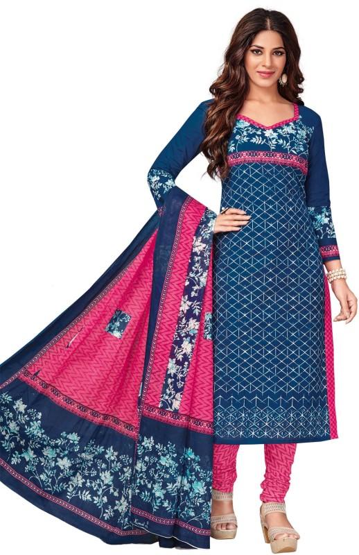 Salwar Studio Cotton Floral Print, Printed Salwar Suit Dupatta Material(Un-stitched)