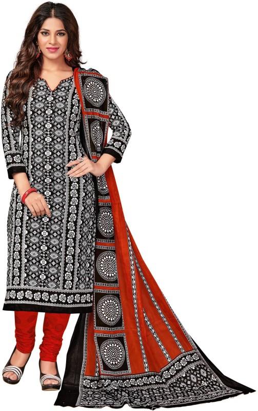 Salwar Studio Cotton Printed Salwar Suit Dupatta Material(Un-stitched)