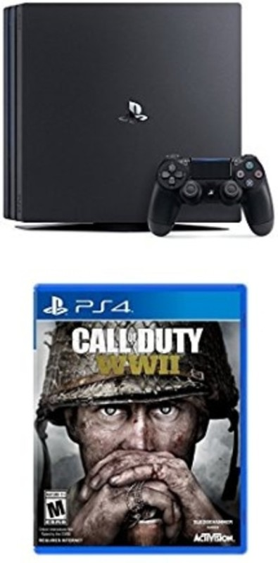 Sony Ps4 Pro Console One TB with Call of Duty: WWII (PS4)(Black)