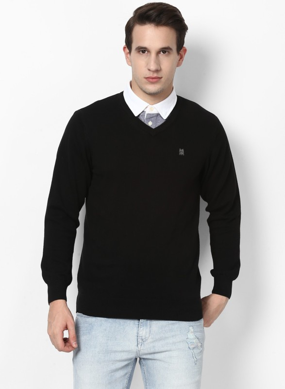 Monte Carlo V-neck Solid Men Pullover
