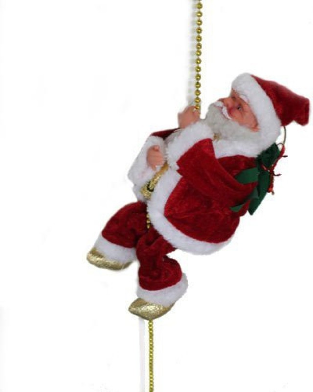 A To Z Traders Christmas Musical Climbing Santa Christmas Xmas Decoration Hanging Ornaments(Pack of 1)