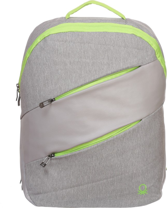 United Colors of Benetton Contrast Zipper 27 L Backpack(Grey)