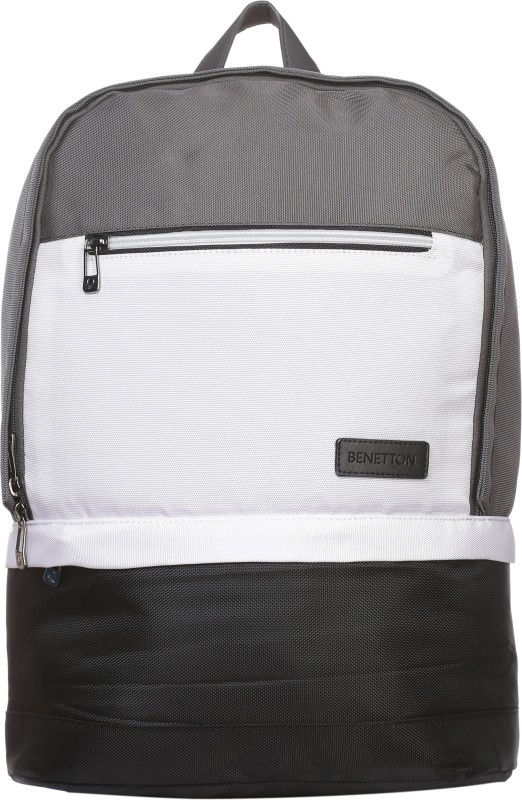 United Colors of Benetton Three Color 21 L Backpack(Grey)