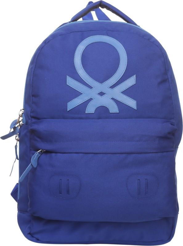 United Colors of Benetton Big Logo 15 L Backpack(Blue)