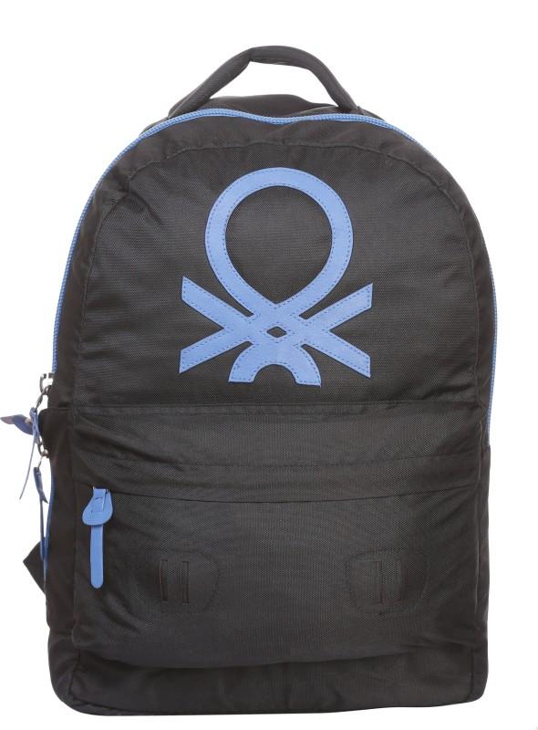 United Colors of Benetton Big Logo 15 L Backpack(Black)