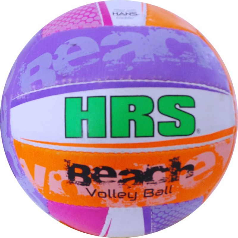 HRS Beach Volley Volleyball - Size: 4(Pack of 1, White)