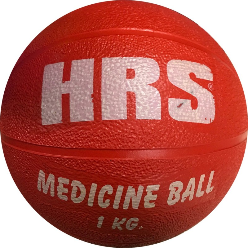 HRS Rubber Medicine Ball without Handle, 1KG - Red Medicine Ball(Weight:  1 Kg, Red)