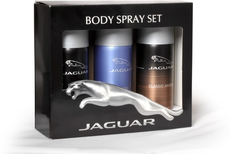 Jaguar Pk of 3 (Classic Amber & Classic & Classic Black) Deodorant Spray - For Men(450 ml, Pack of 3)