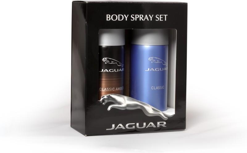 Jaguar Pk of 2 (Classic & Classic Amber) Deodorant Spray - For Men(300 ml, Pack of 2)