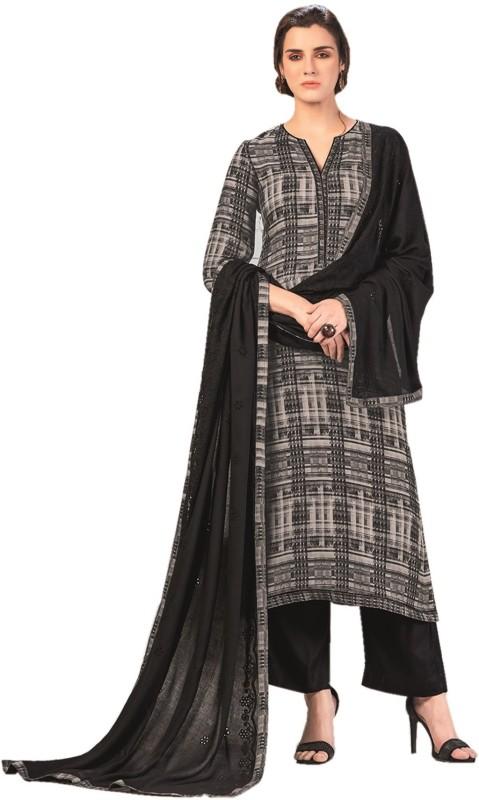 Rosaniya Wool Embroidered Salwar Suit Dupatta Material(Un-stitched)