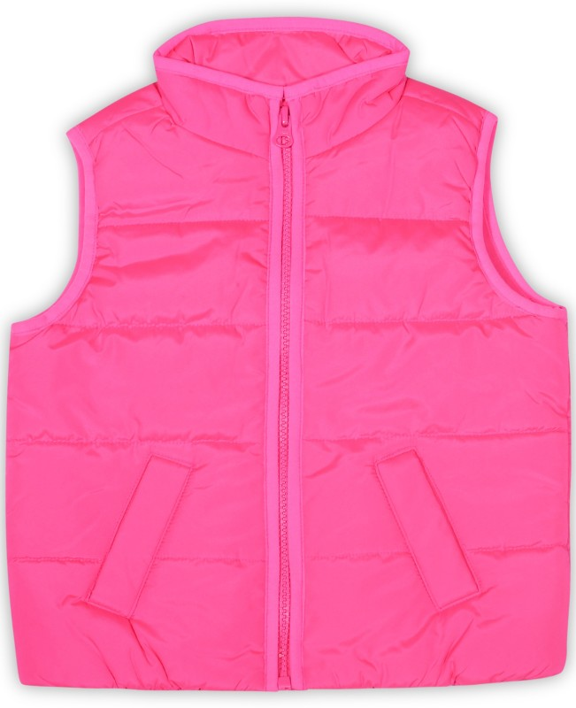 The Childrens Place Sleeveless Solid Girls Jacket