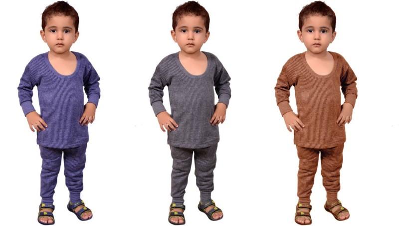 La Melodia Top - Pyjama Set For Boys & Girls(Multicolor, Pack of 3)
