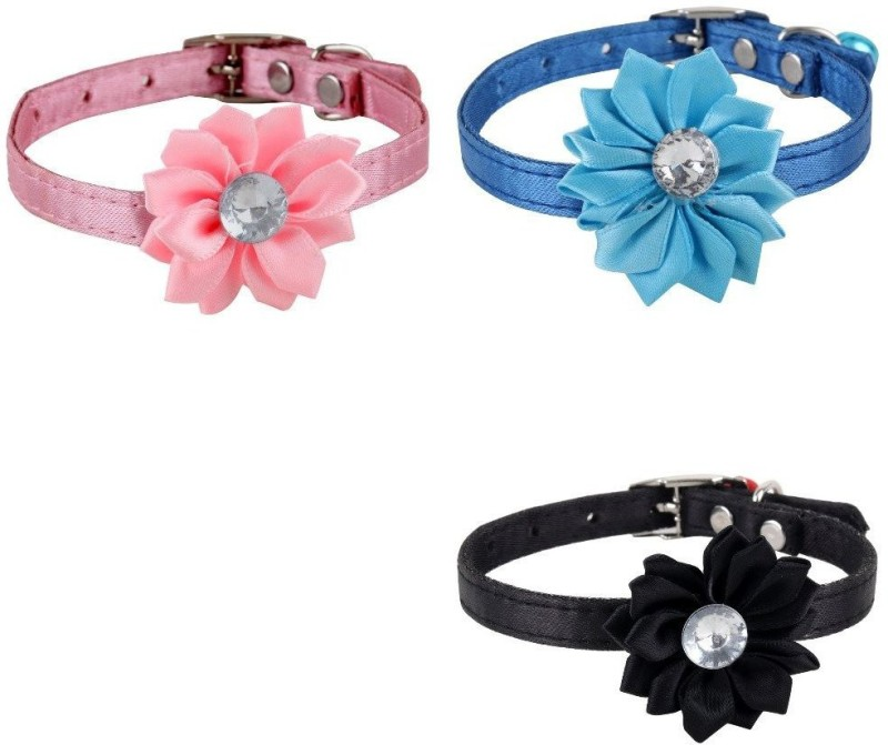 SRI High Quality Combo Of Designer Adjustable Flower Collar For Puppy/Cat Cat Everyday Collar(Small, Multicolor)