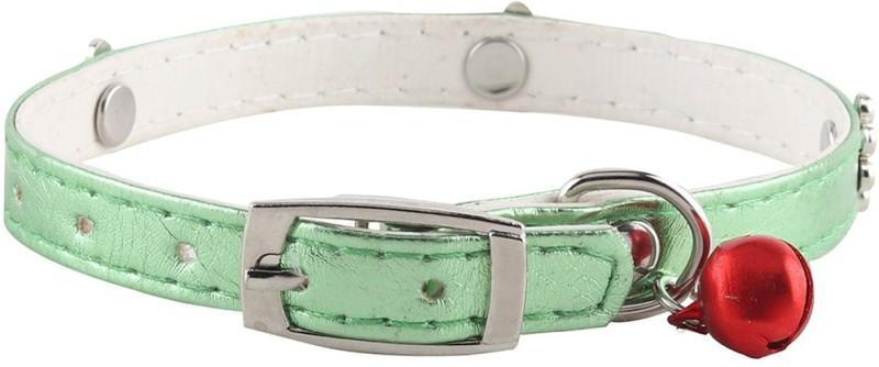 SRI High Quality Designer Adjustable Paw Revit Studs Design Collar For Puppy/Cat Cat Everyday Collar(Small, Green)