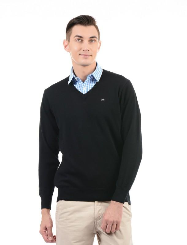 Monte Carlo V-neck Solid Mens Pullover