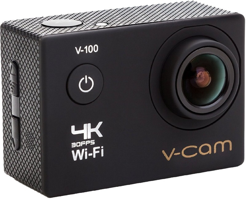 V-CAM Sports Action Sports Action Camera 4k Wifi 16 MP with High Speed Shooting & Definition Equipped with IP68 waterproof case,durable waterproof to 100 Feet Including 22 Accessories Sports and Action Camera(Black 16 MP)