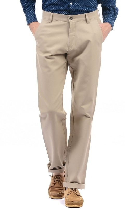 Arrow Sport Regular Fit Men Beige Trousers