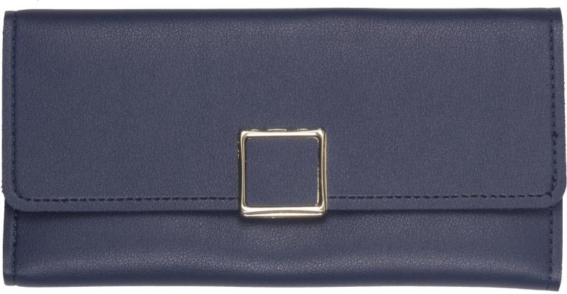 aaradhya creations Women Blue Artificial Leather Wallet(10 Card Slots)