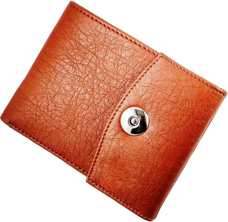 wenzest Men Tan Artificial Leather Wallet(6 Card Slots)