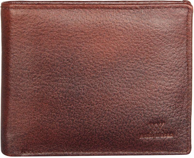Aditi Wasan Men Brown Genuine Leather Wallet(5 Card Slots)