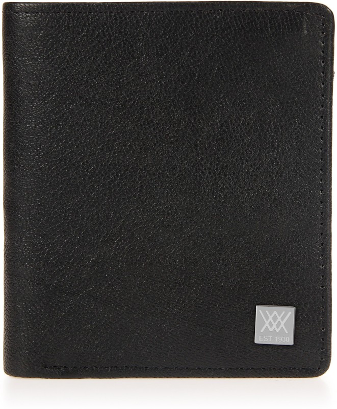 Aditi Wasan Men Black Genuine Leather Wallet(4 Card Slots)