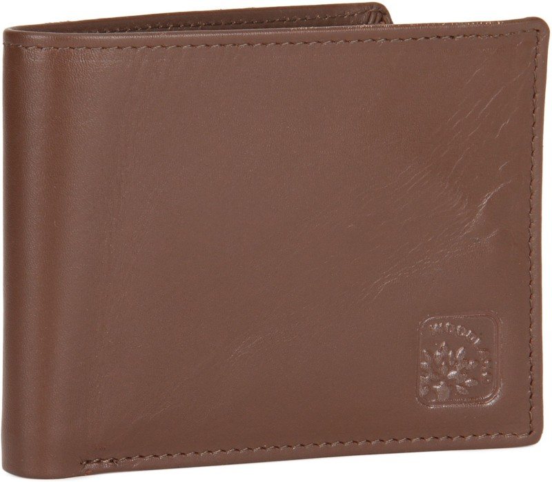 Woodland Men Brown Genuine Leather Wallet(3 Card Slots)