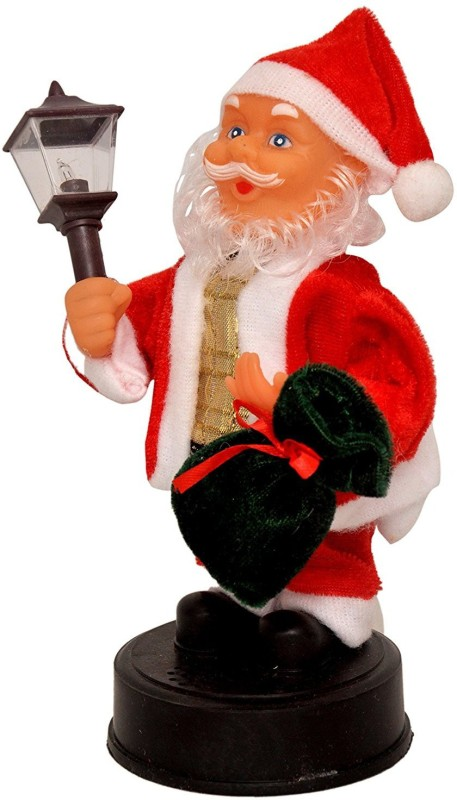 A To Z Traders Christmas Moving Musical Santa Claus Toy with LED Lights Angel Figurine(Pack of 1)