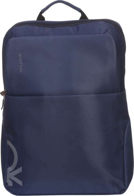 United Colors of Benetton Half Logo 18 L Backpack(Blue)