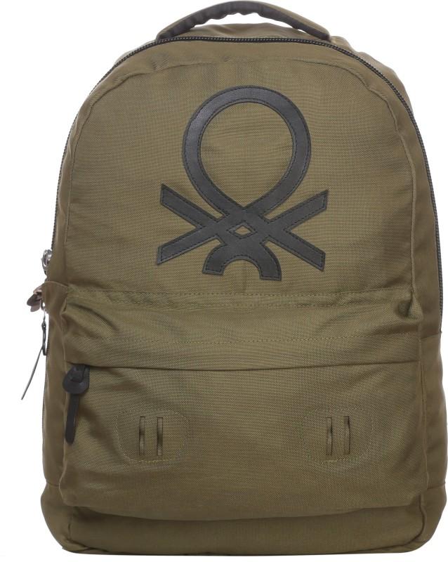 United Colors of Benetton Big Logo 15 L Backpack(Grey)