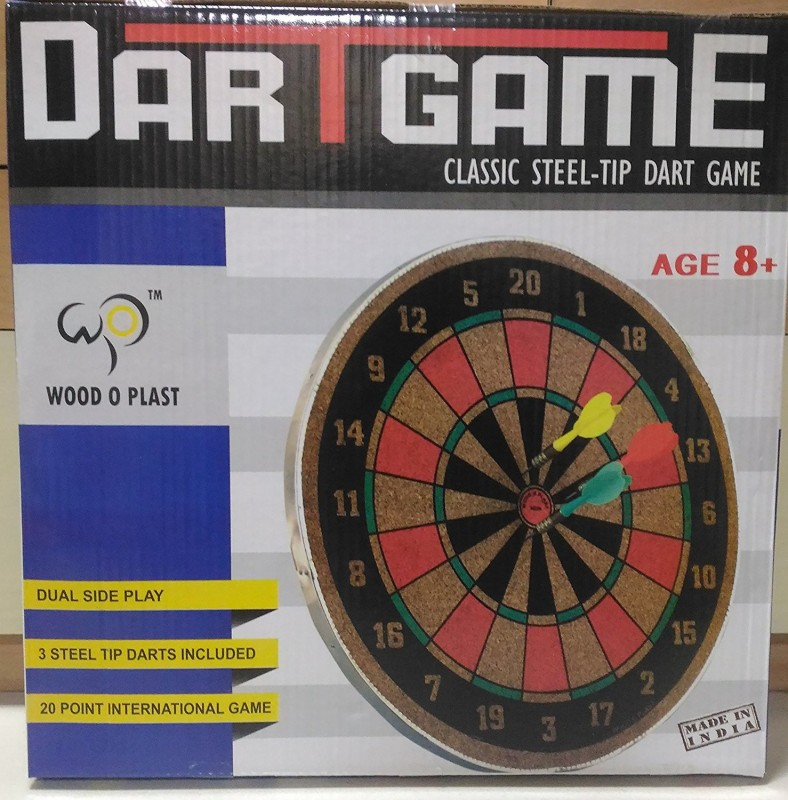 Wood-O-Plast Dart Board 14 Inch Board Game